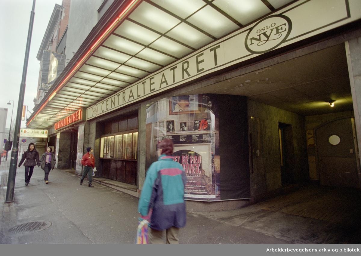 Akersgata. Centralteatret, Oslo Nye. Desember 1995