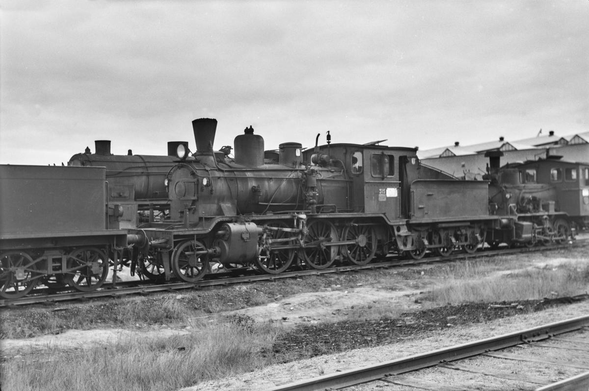 Hensatt damplokomotiv type 21b nr. 315 på Grorud verksted.