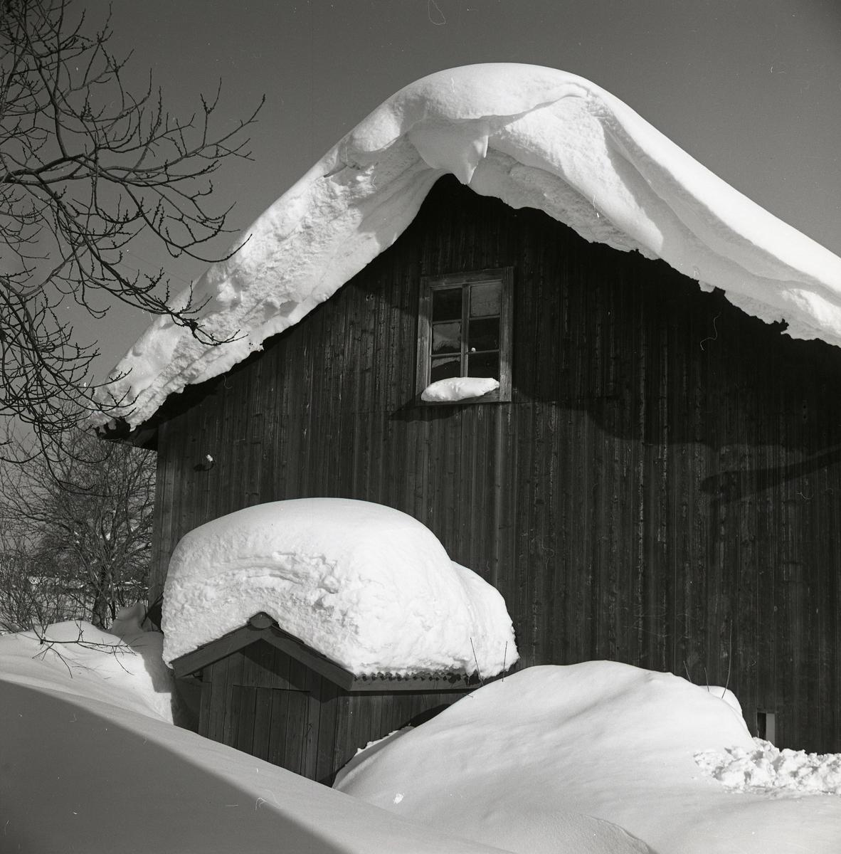 Vinter med mycket snö på taken, januari 1967.