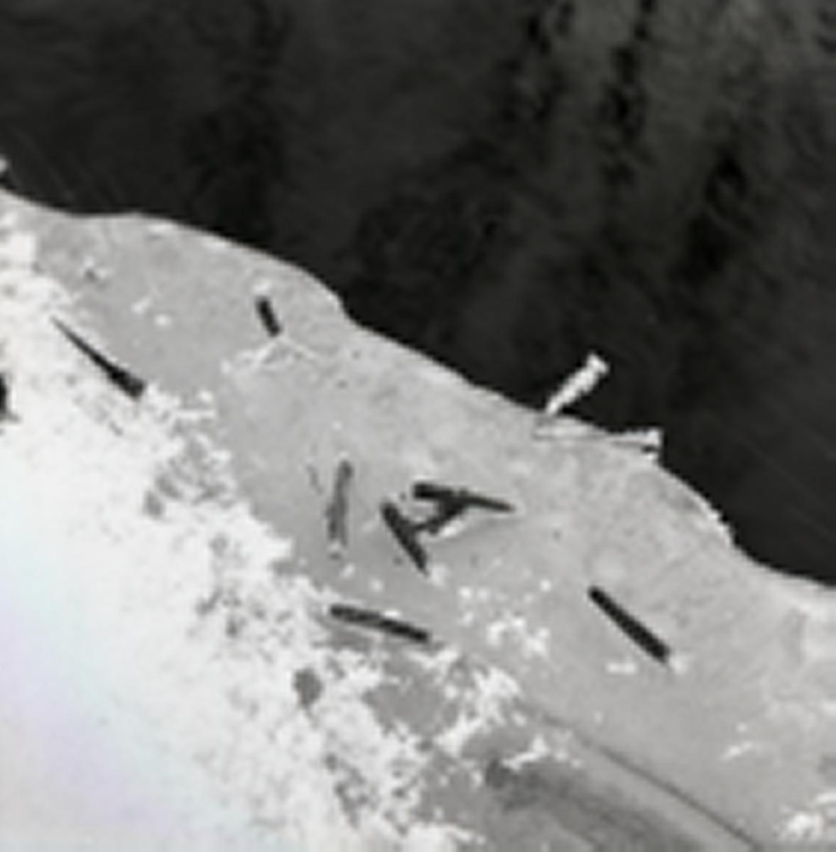 Ett husmaskbo vid en vattendrag, 26 februari 1962.