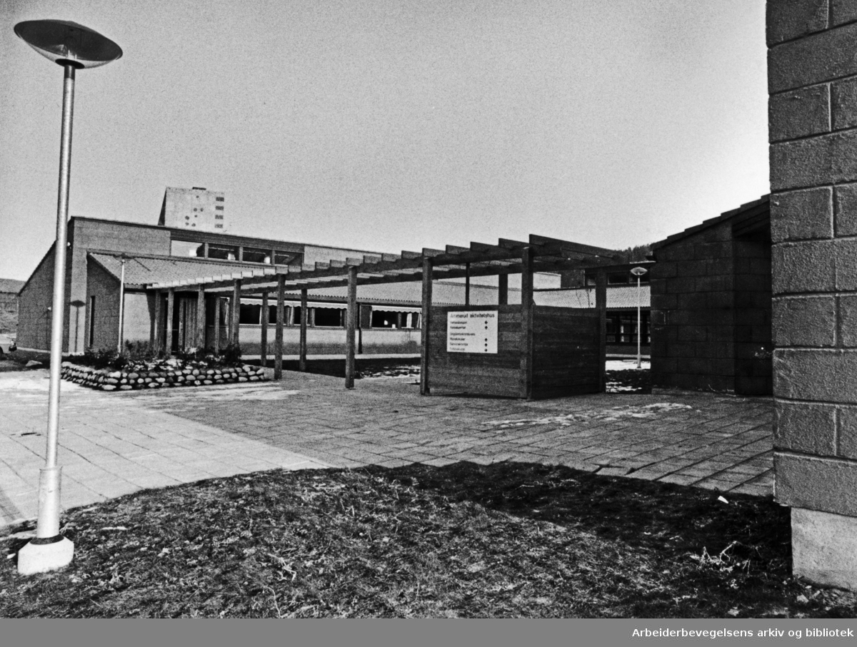 Ammerud aktivitetshus. November 1980