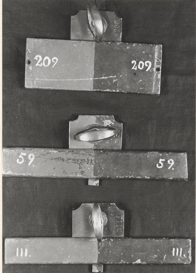 Kompensationsmagnet av mässing som använts ombord på Svensksund.