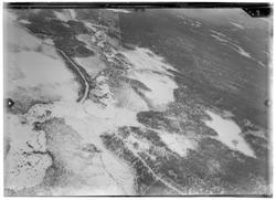 Flygfotografi av landskap vid Aapolampi i norra Finland unde
