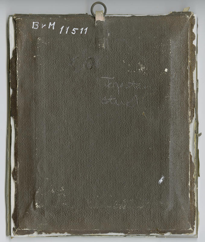 Baksiden av daguerreotypiet. Borgarsyssel Museum / BRM.11511. Reproduksjoner ved Østfold fylkes billedarkiv.