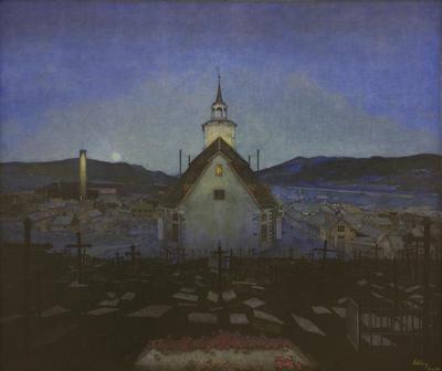 TKM-143-1904_Sohlberg_Harald_Rros_kirke_1904.tif. Foto/Photo
