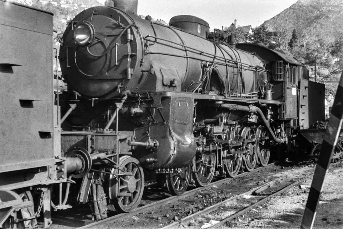 Damplokomotiv type 31b nr. 431  på Bergen stasjon.