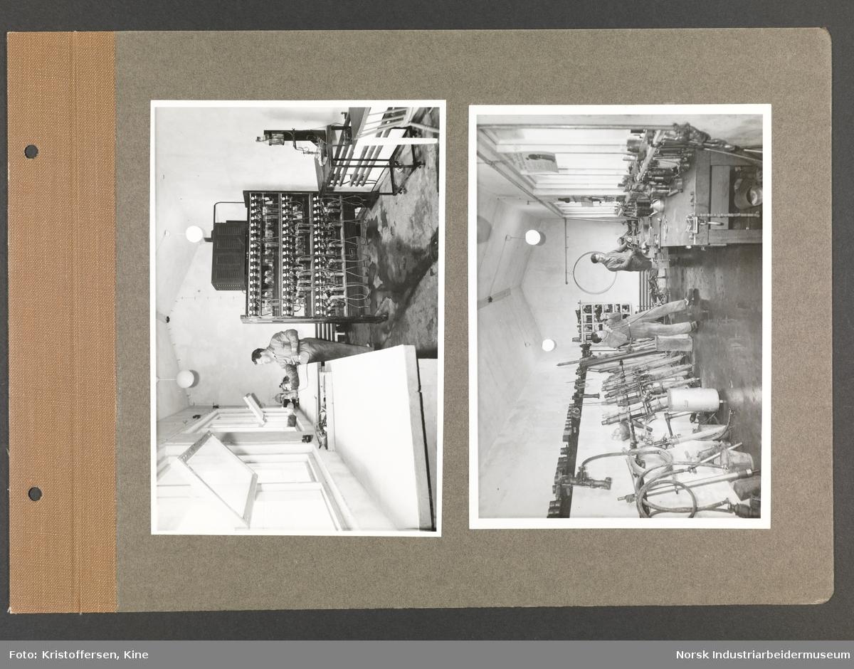 Fotoalbum med 48 sider og 69 innlimte fotografier fra Norsk Hydro på Herøya.