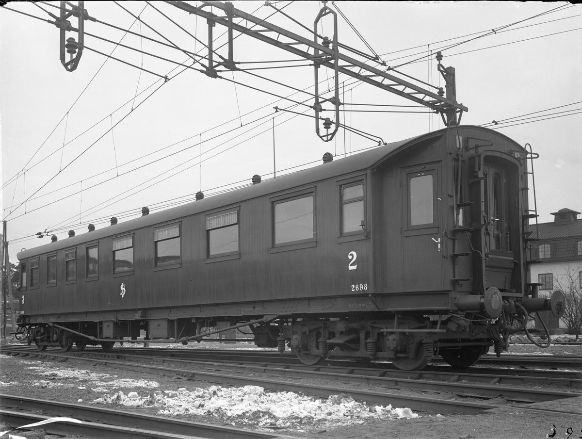 Statens Järnvägar, SJ BCo9 2698. Efter modernisering. Vagn byggd i Kalmar 1927.