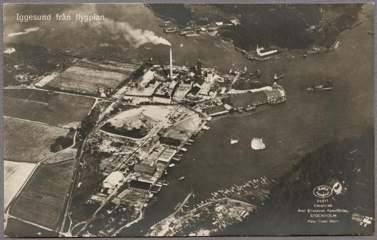 Flygfoto över Iggesund.