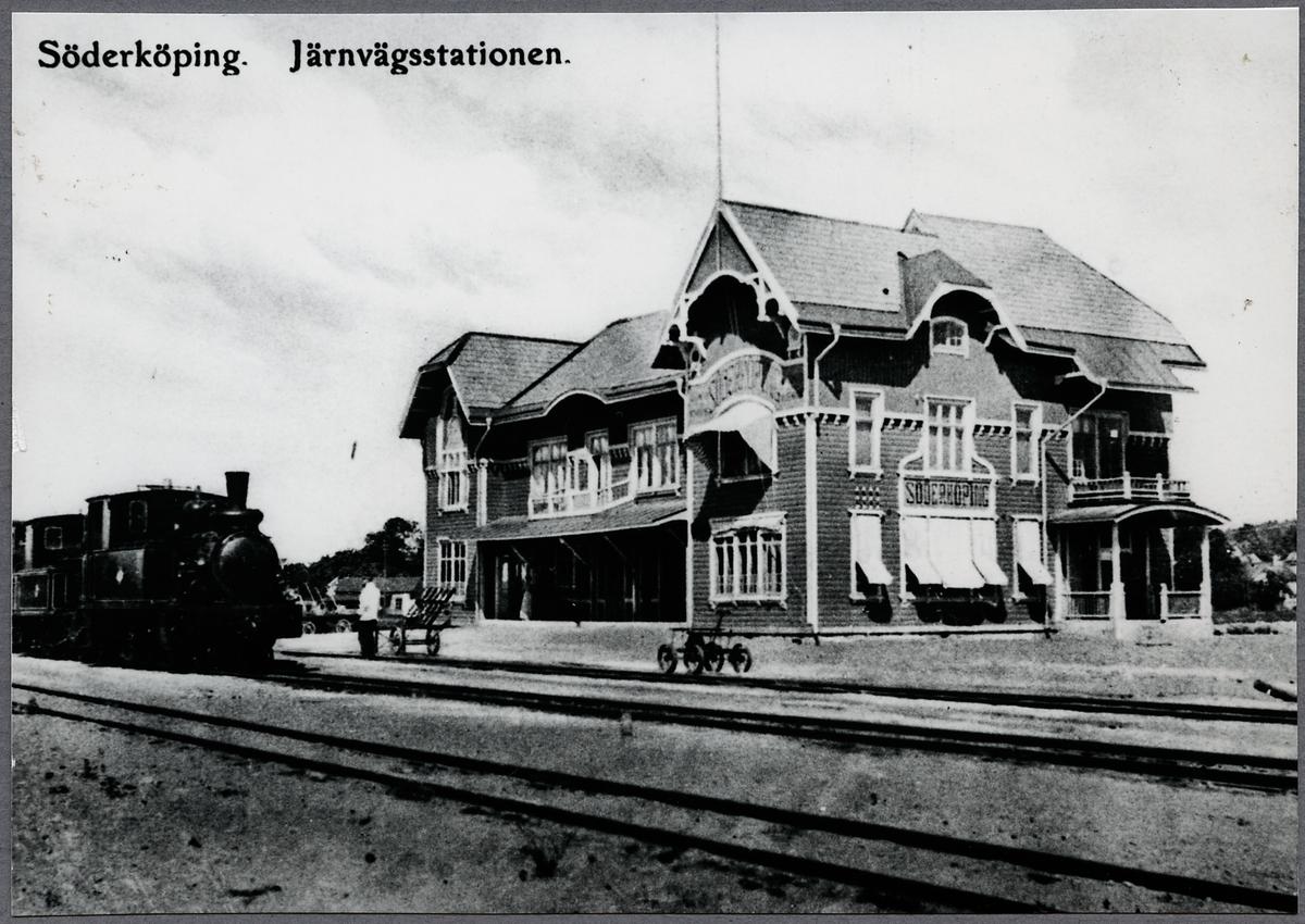 Järnvägsstationen i Söderköping.