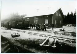 DHJ 2 Gimo med tåg Station öppnad 2/1 1878, lastplats fr 17