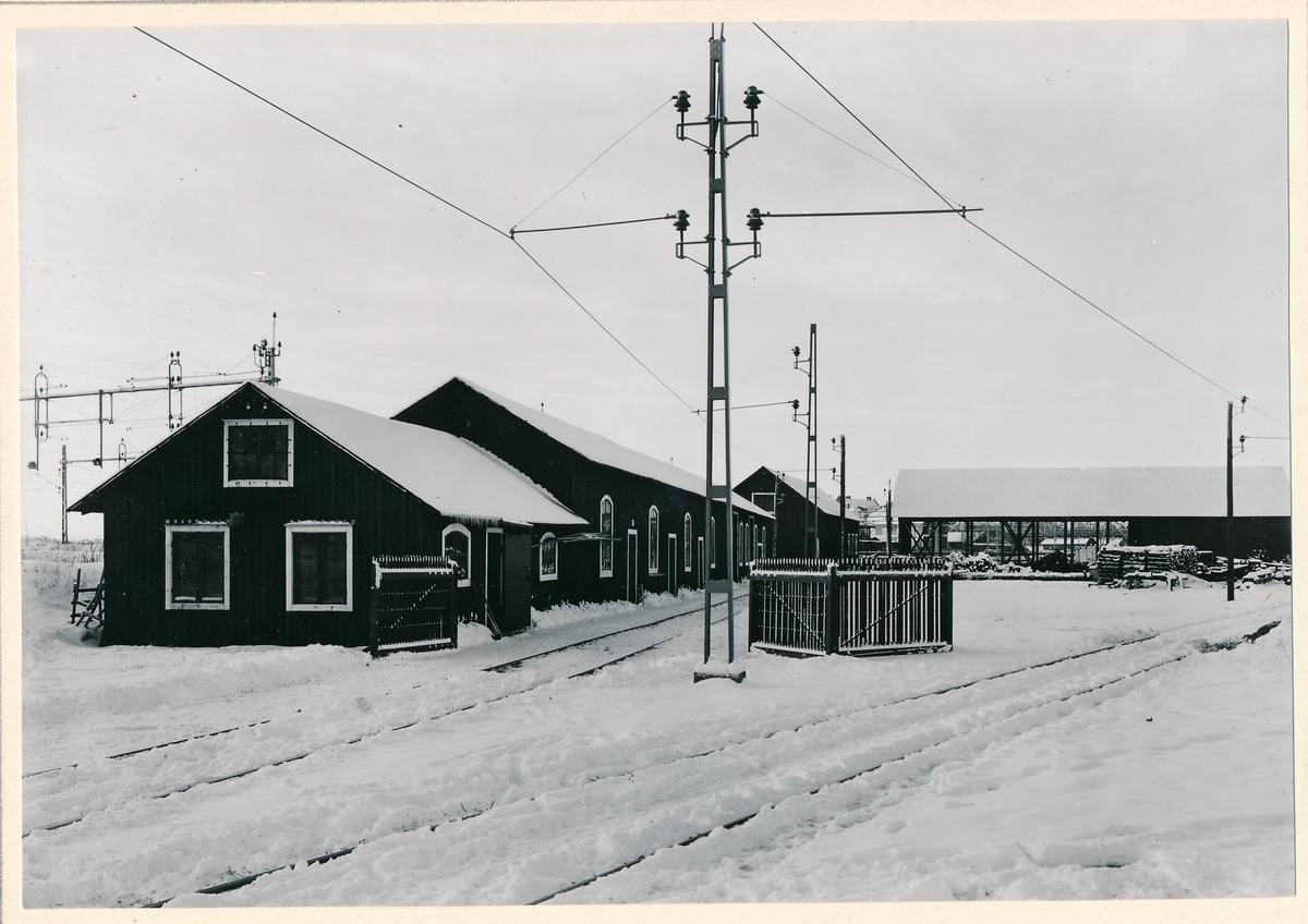 Luleå bangård. Banavdelningens rförrådsgård sedd från öster.