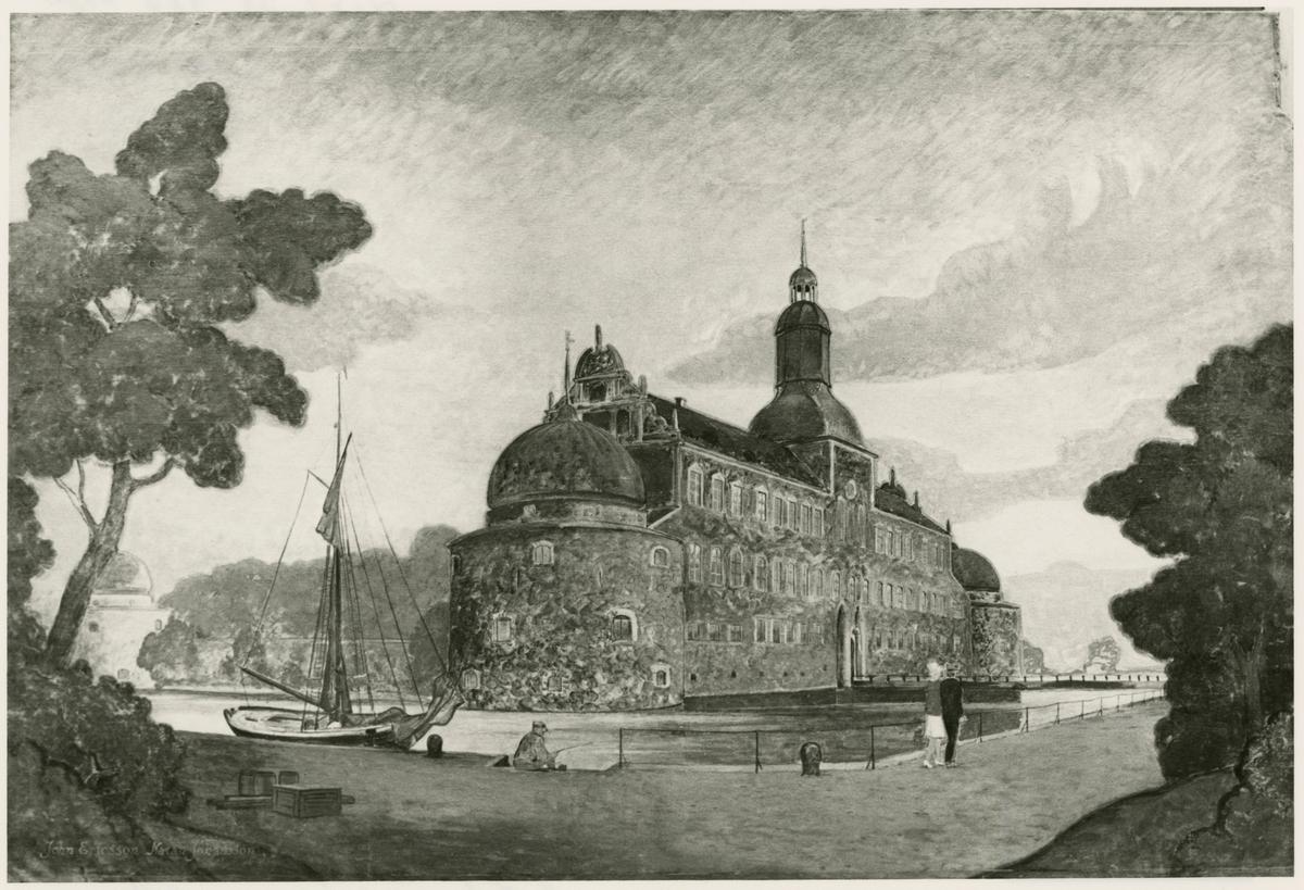 Väggmålning, Stockholms Centralstation. Motiv: Vadstena slott.
