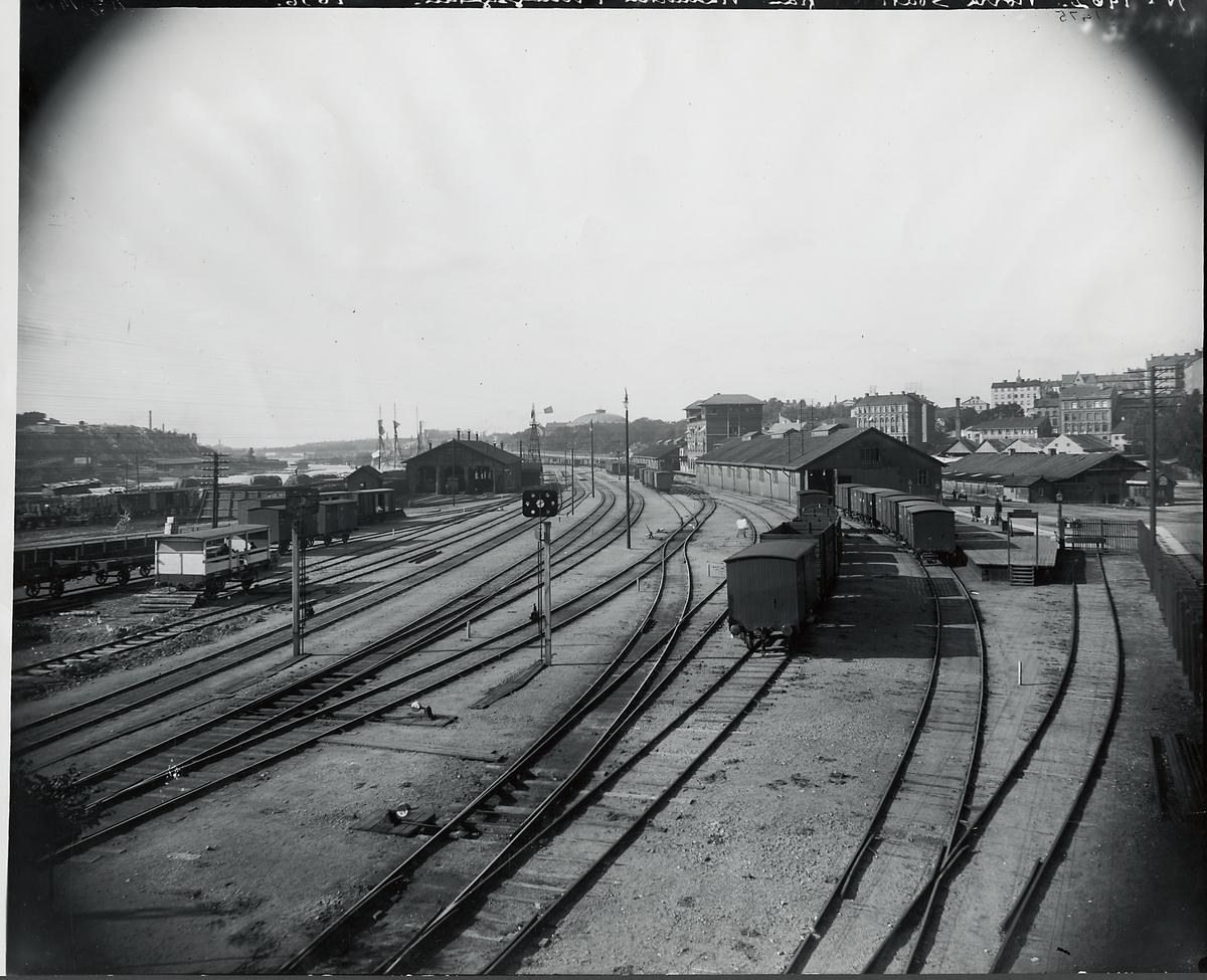 Norra station från viadukten i Kungsgatan 1896.