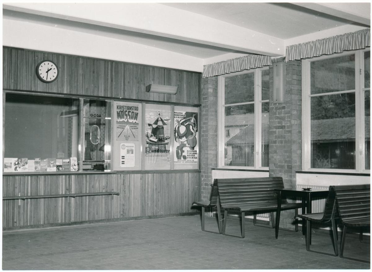 Väntsalen i Svängsta nya station