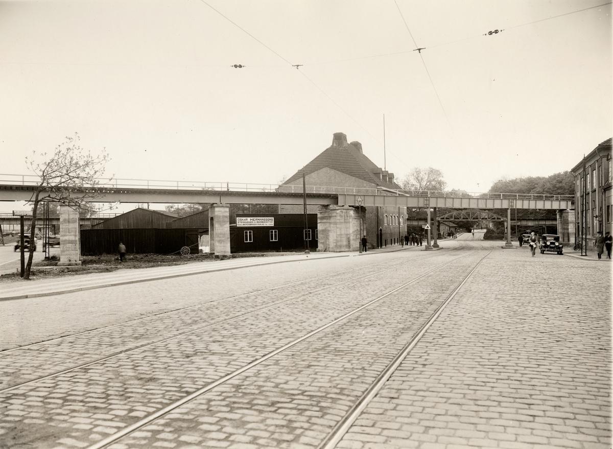 Göteborg Viadukterna vid Gullbergsbrogatan.
