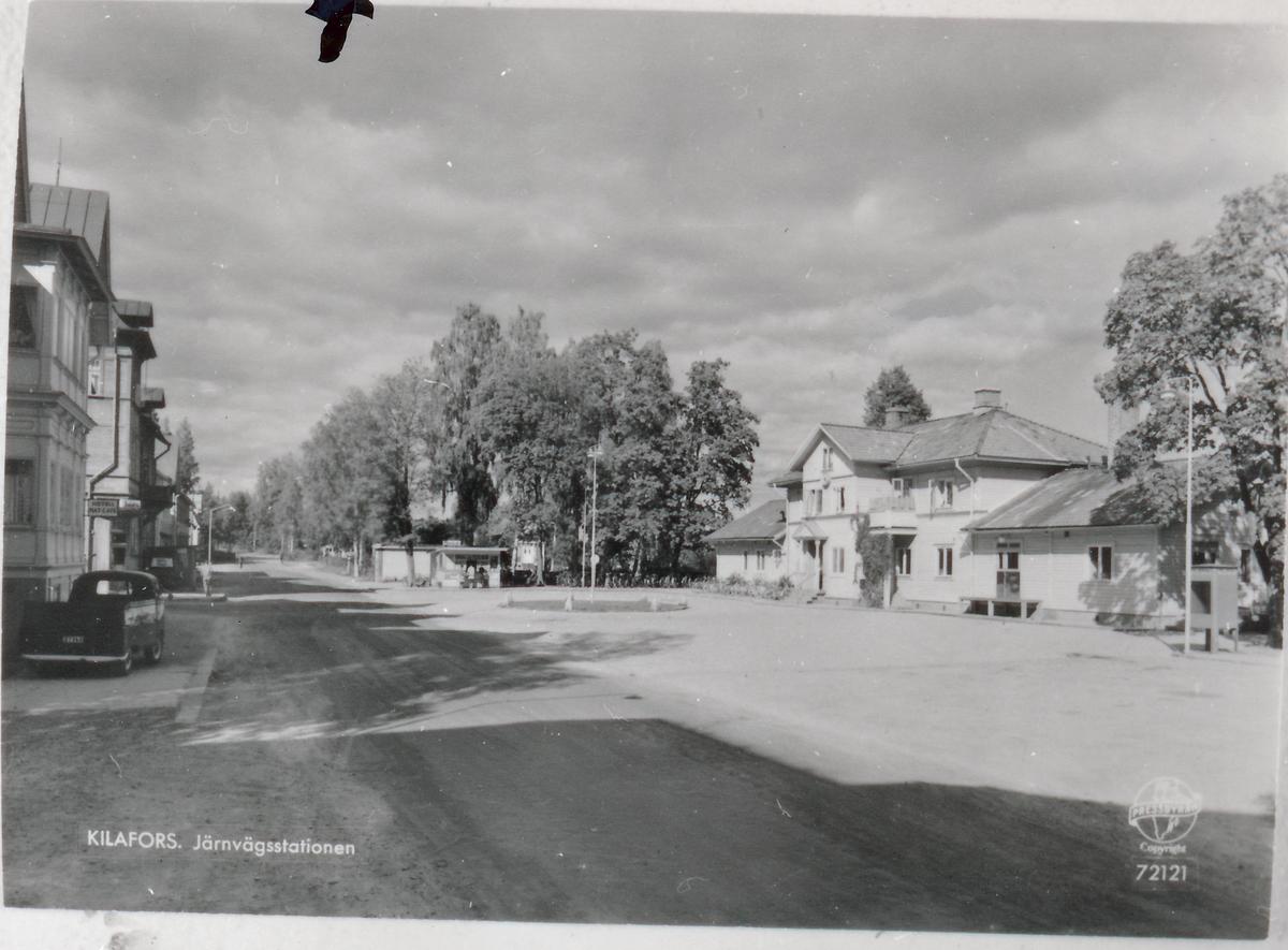 Kilafors station från gatusida.