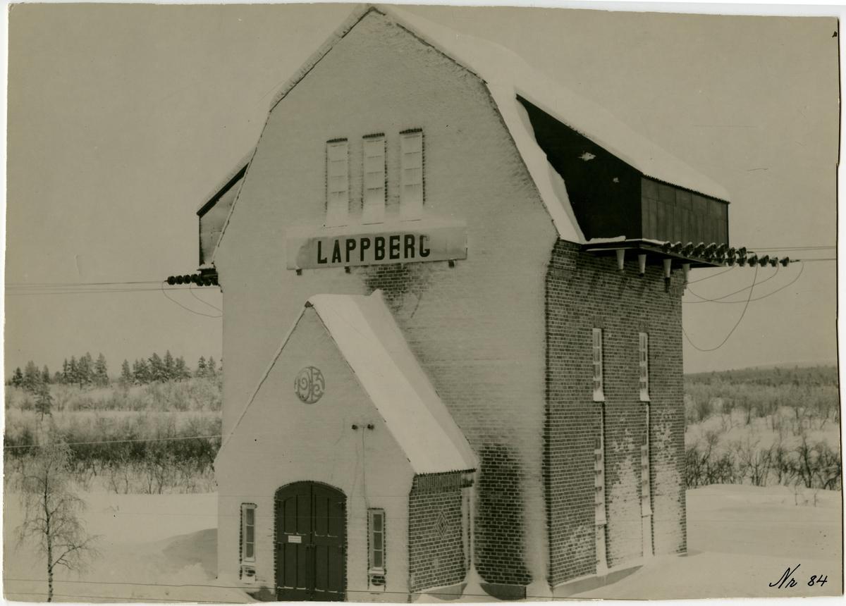 Omkopplingsstation i Lappberg.