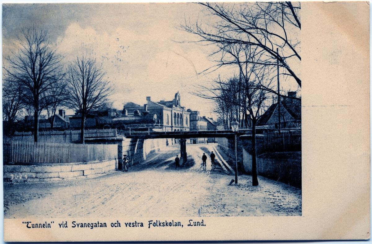 Tunneln vid Svanegatan och västra Folkskolan, Lund