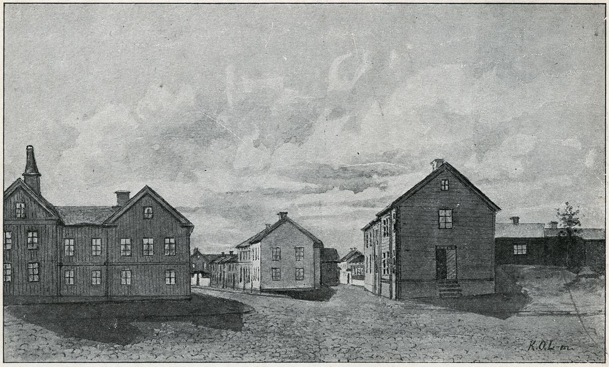 Örebro, Storgatan söderut från Järnvägsgatan.