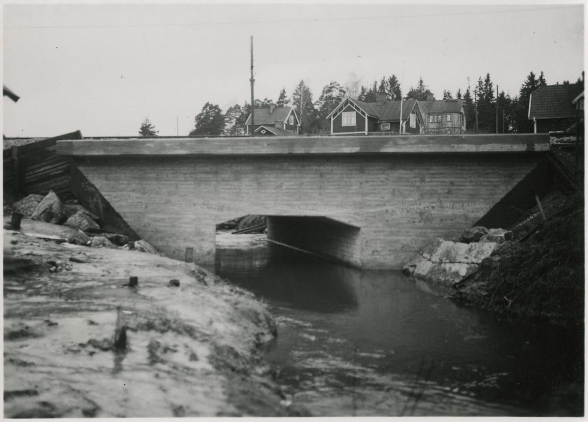 Förberedelse för dubbelspår linjen Järna-Katrineholm. Bron vid Skeboån.