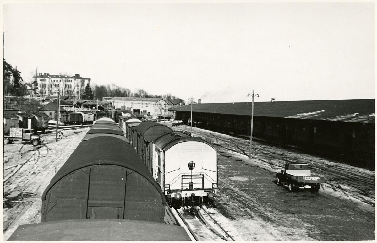 Stockholm Norra station inför elektrifieringen.