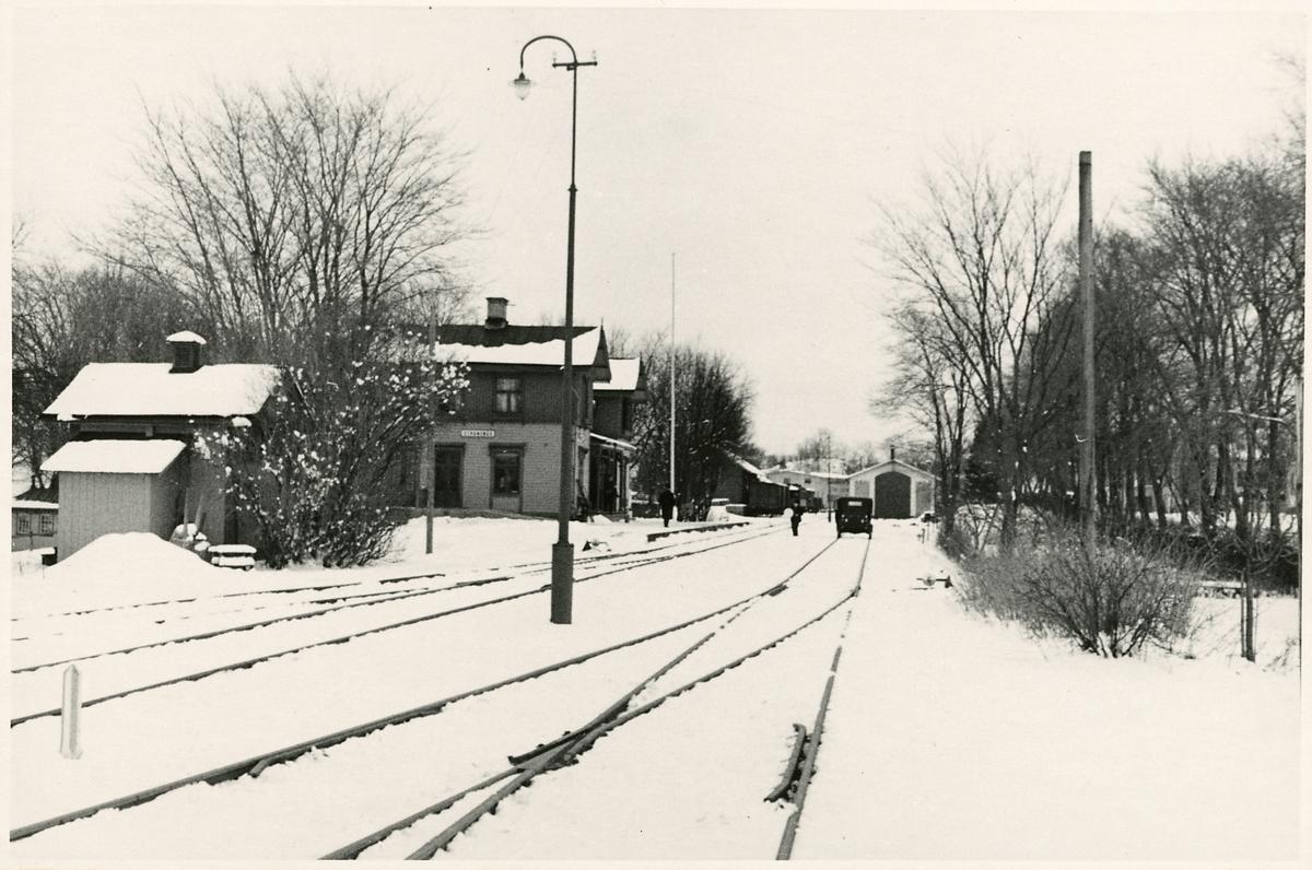 Inför elektrifieringen i Strängnäs.