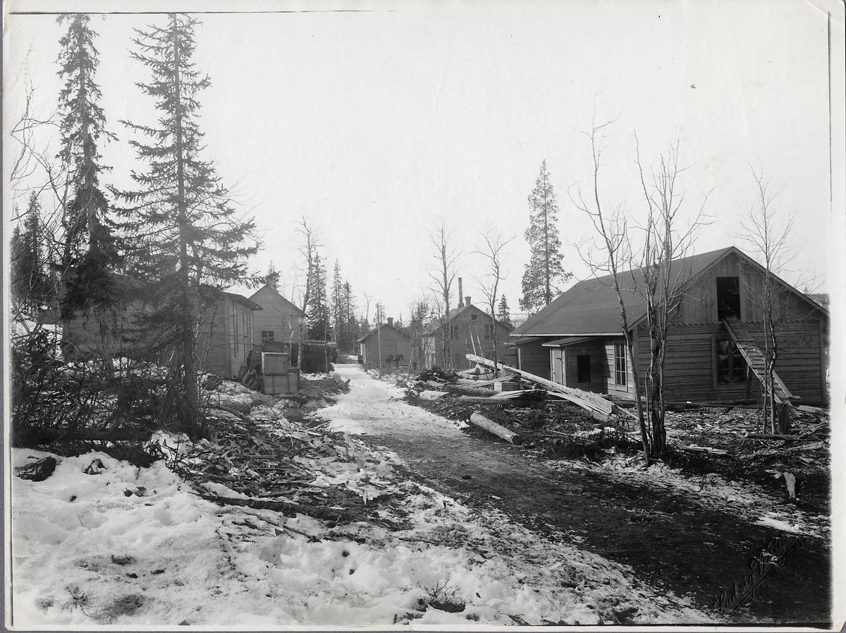 Handelskvarteret i Porjus 1911-04-20.