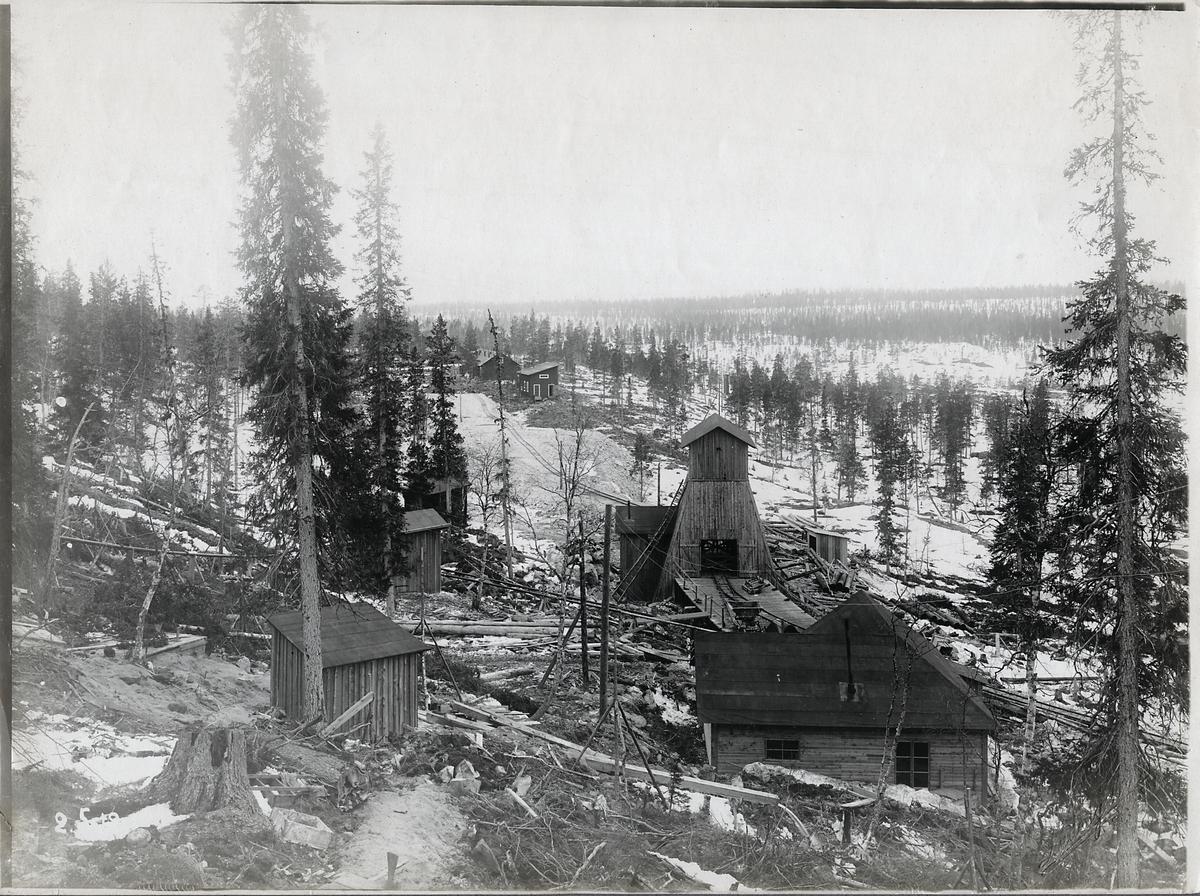 Porjus vid tiden för kraftstationsbygget.