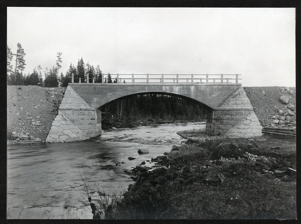 Bro över Röja älv på linjen mellan Överhogdal och Åsarna.