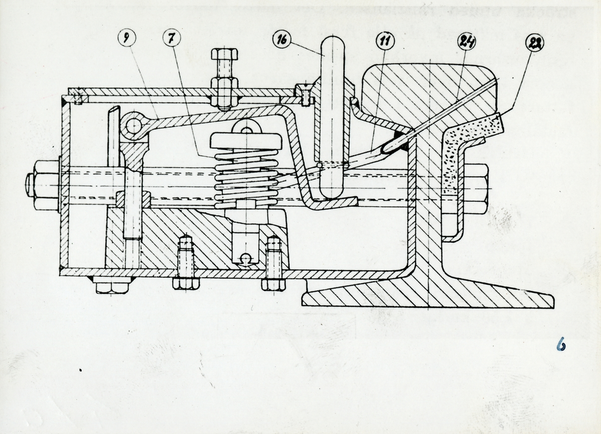 Fast smörjapparat konstruerad av G. A. Johansson.