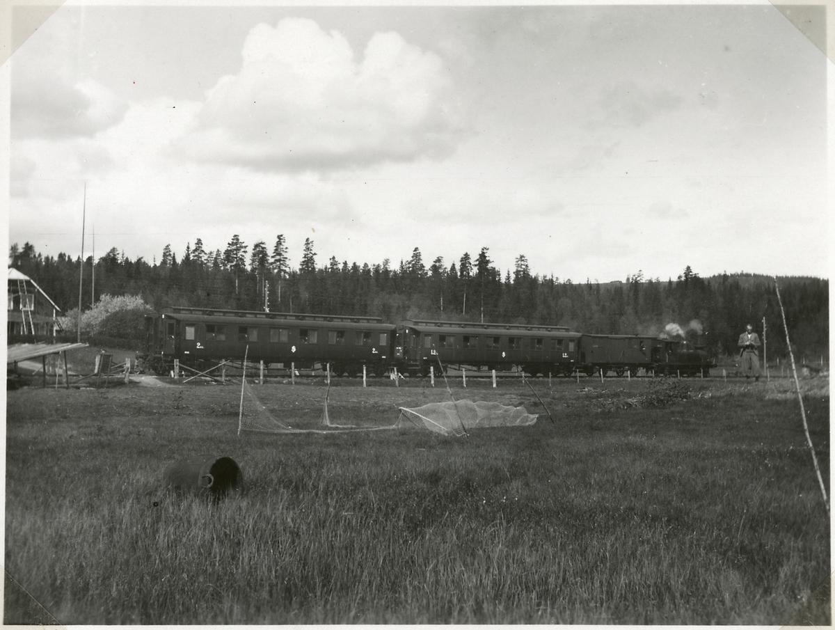 Bombningen vid Svartälvs Järnväg. Åskådartåget.