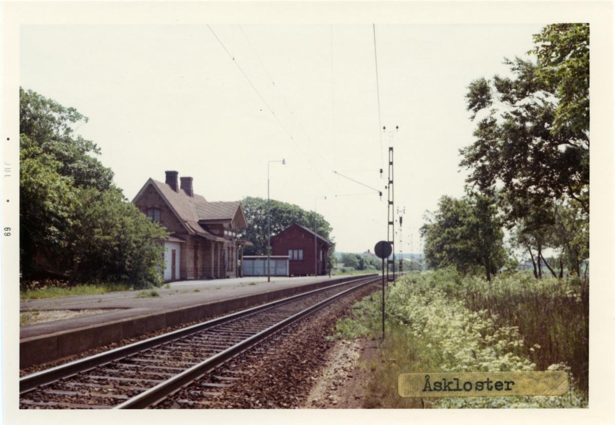 Stationshuset byggdes 1887.