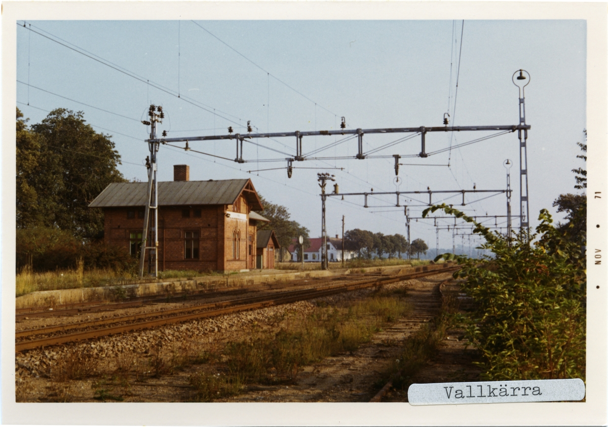 Vallkärra station.