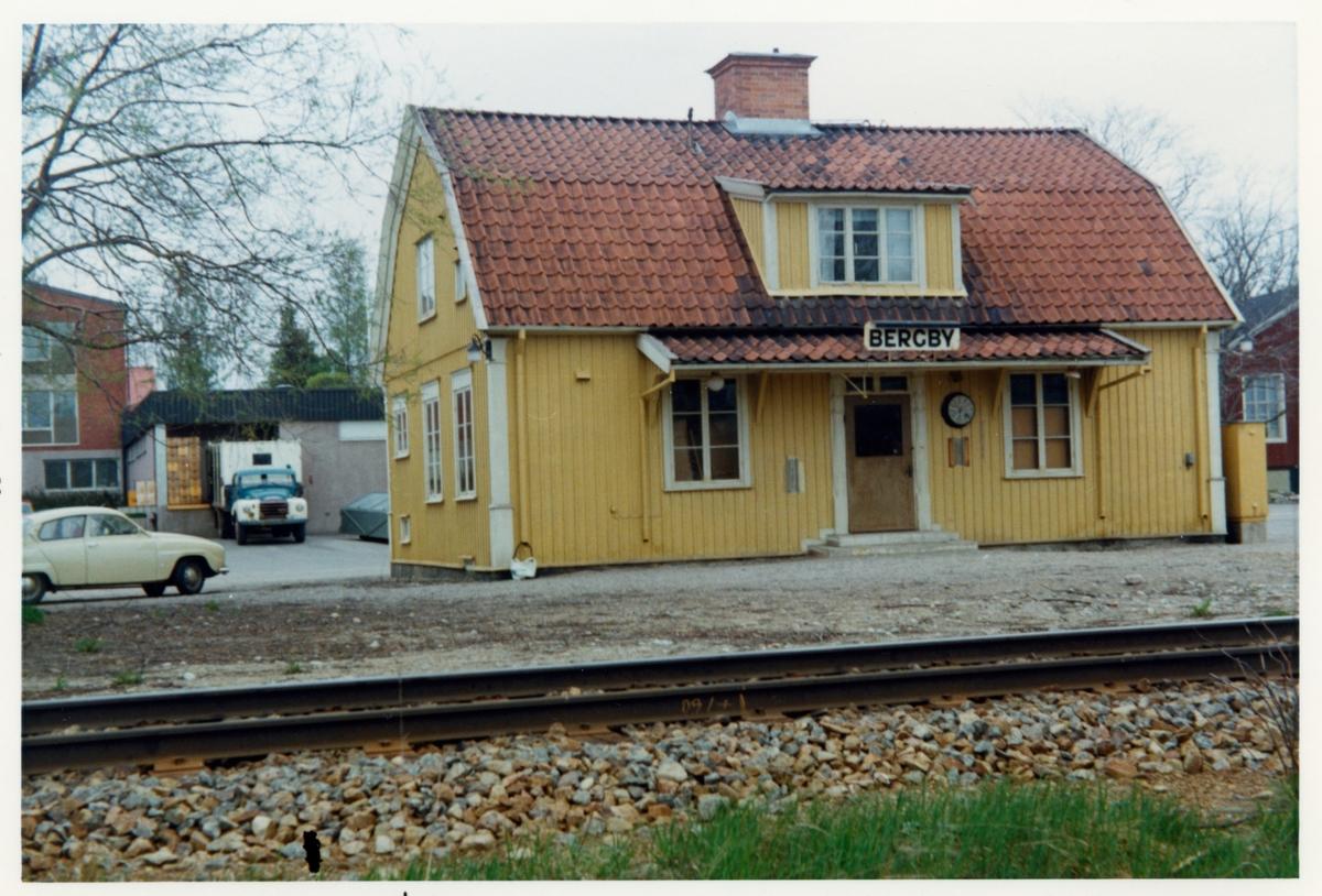 Bergby station omkring år 1972.