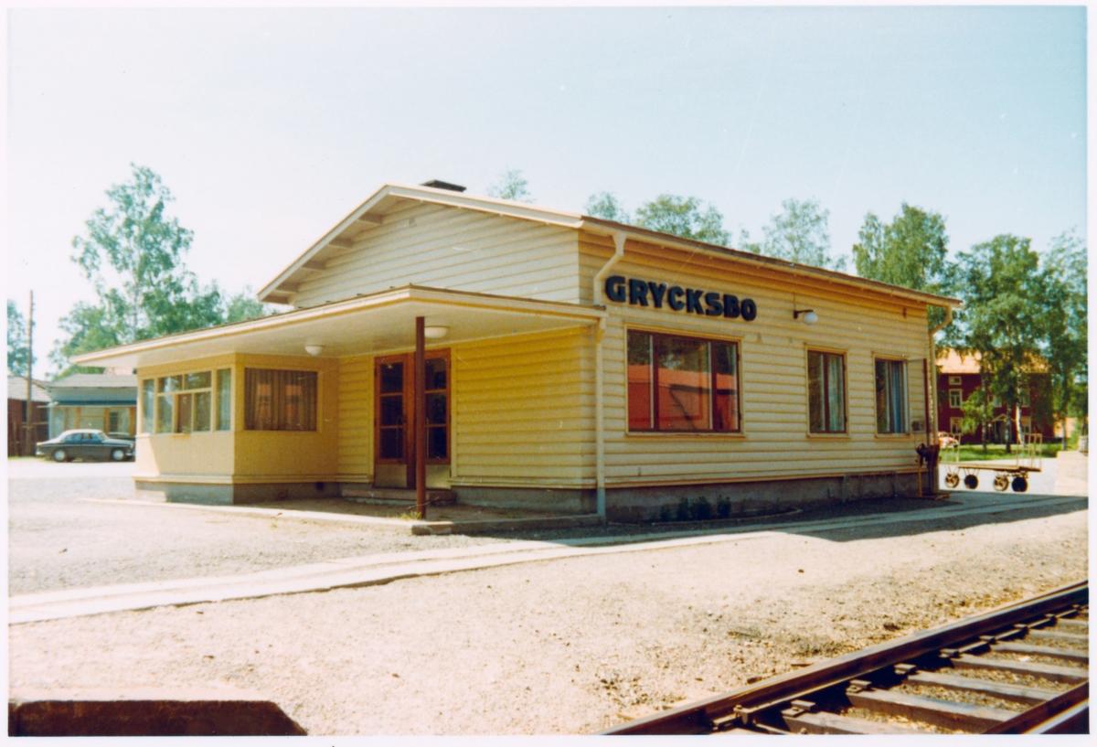 Grycksbo station. Bilden tagen i samband med stationshusinventering.