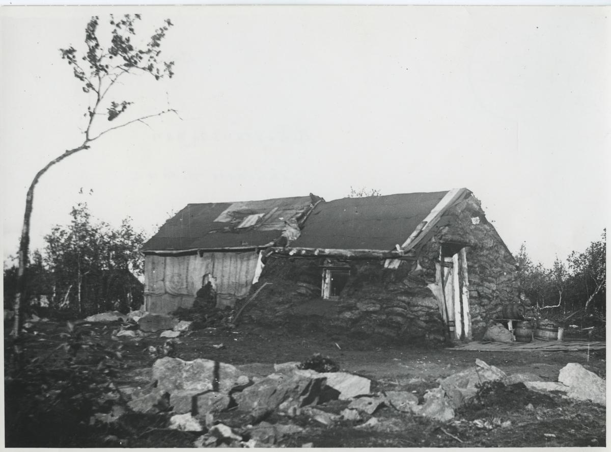 Rallarbostad barack vid Riksgränsbanan