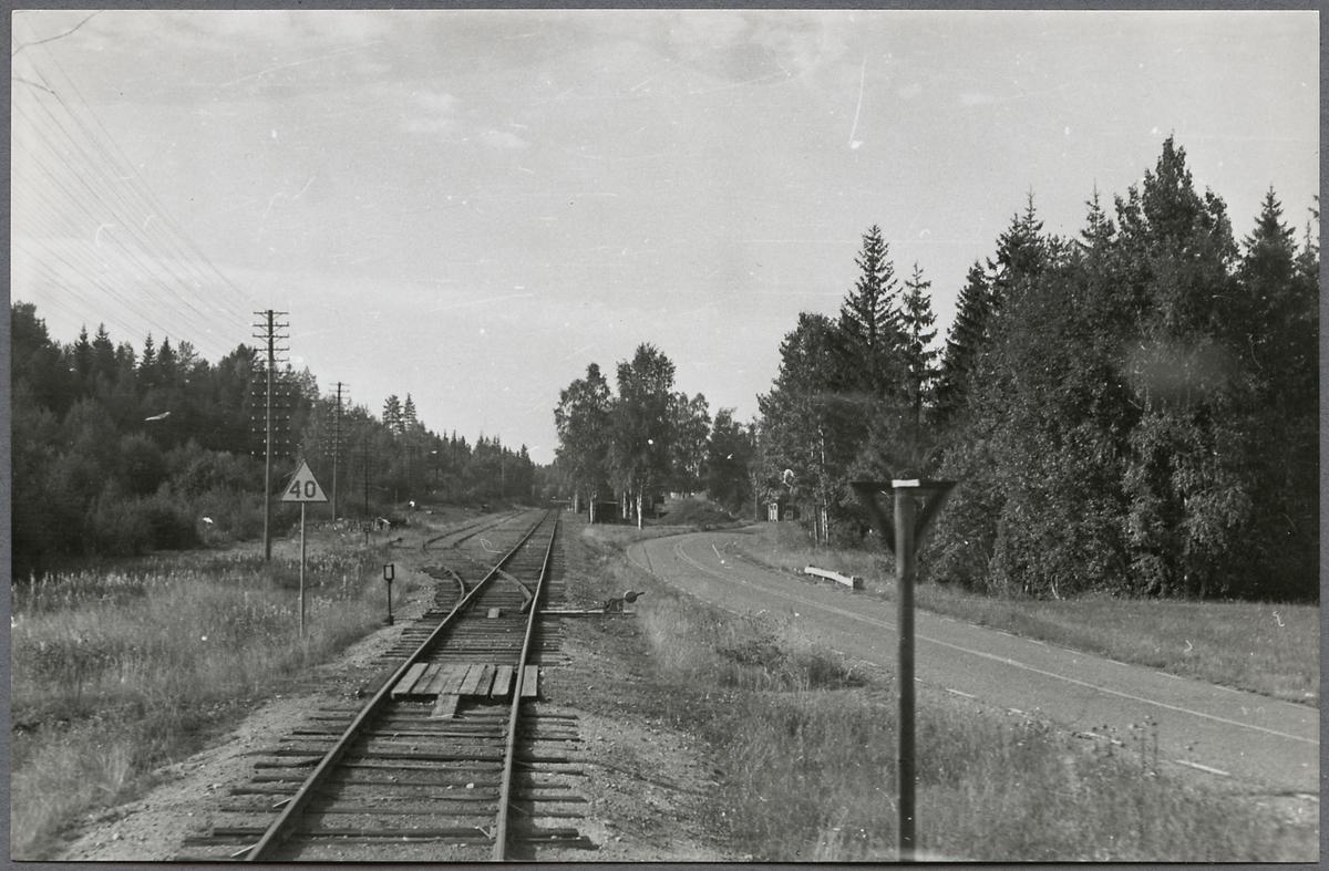 Järnvägsspår vid Gopshus.