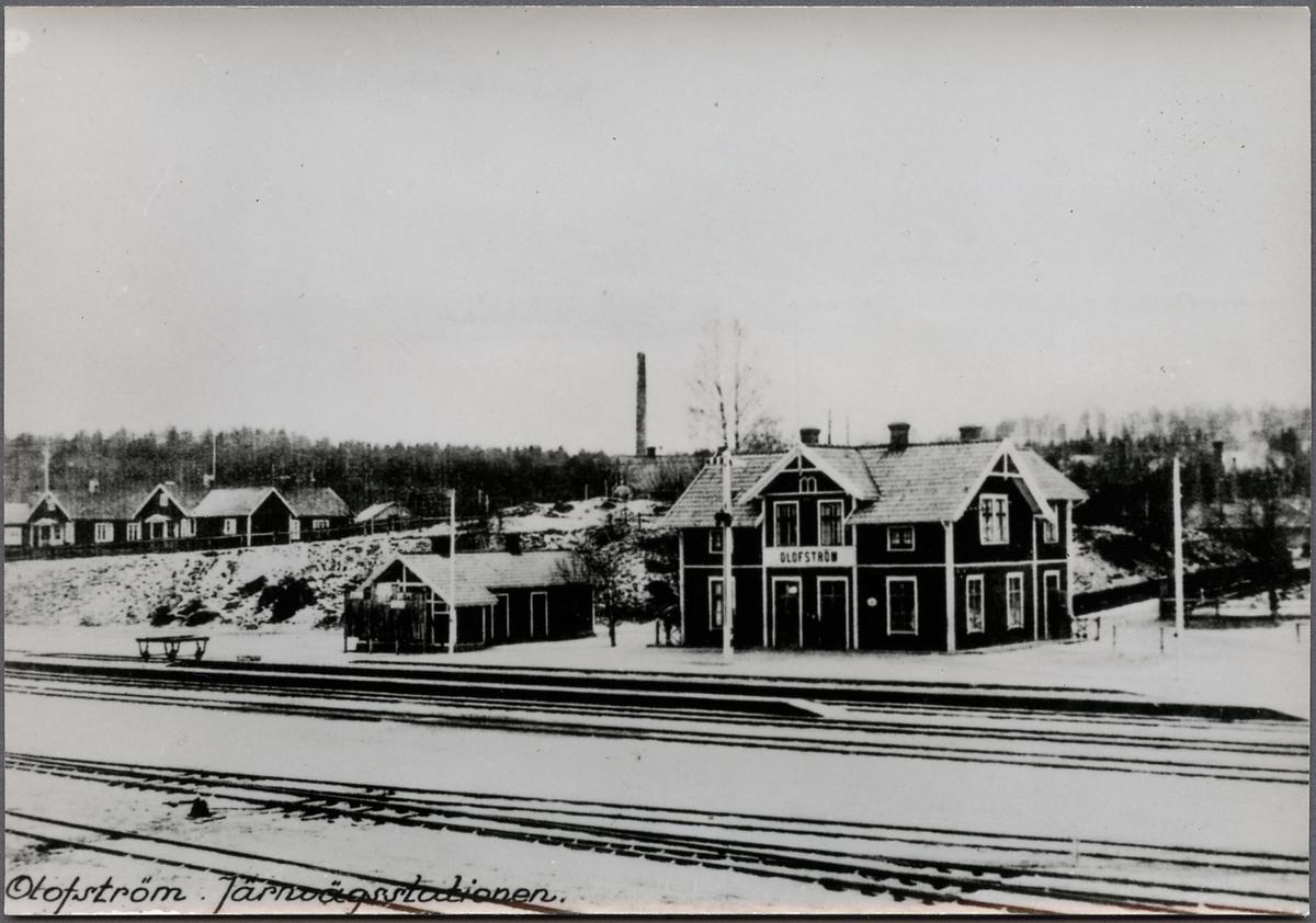 Olofström Järnvägsstation.