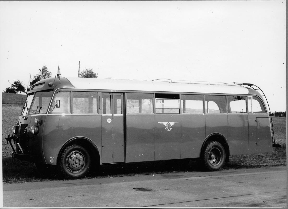 Trafikförvaltningen Göteborg - Dalarne - Gävle, GDG buss 168. Volvo Buss.