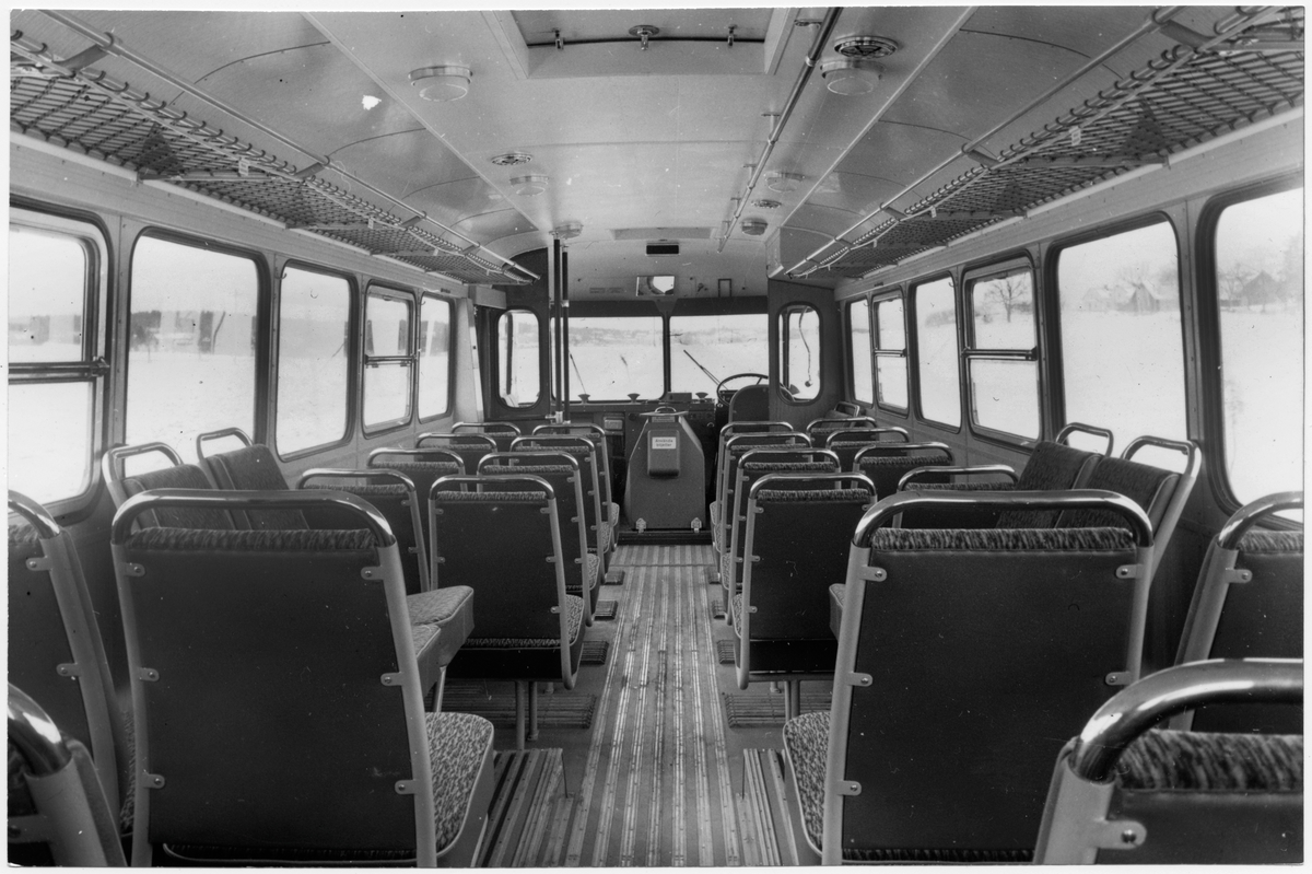 Statens Järnvägar, SJ buss 2561. Interiörbild.