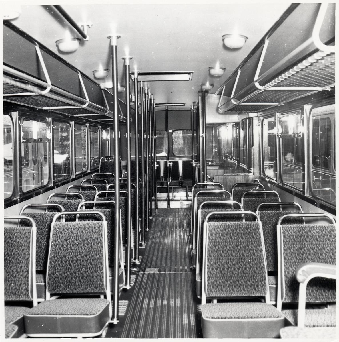 Sittplatser i en buss.