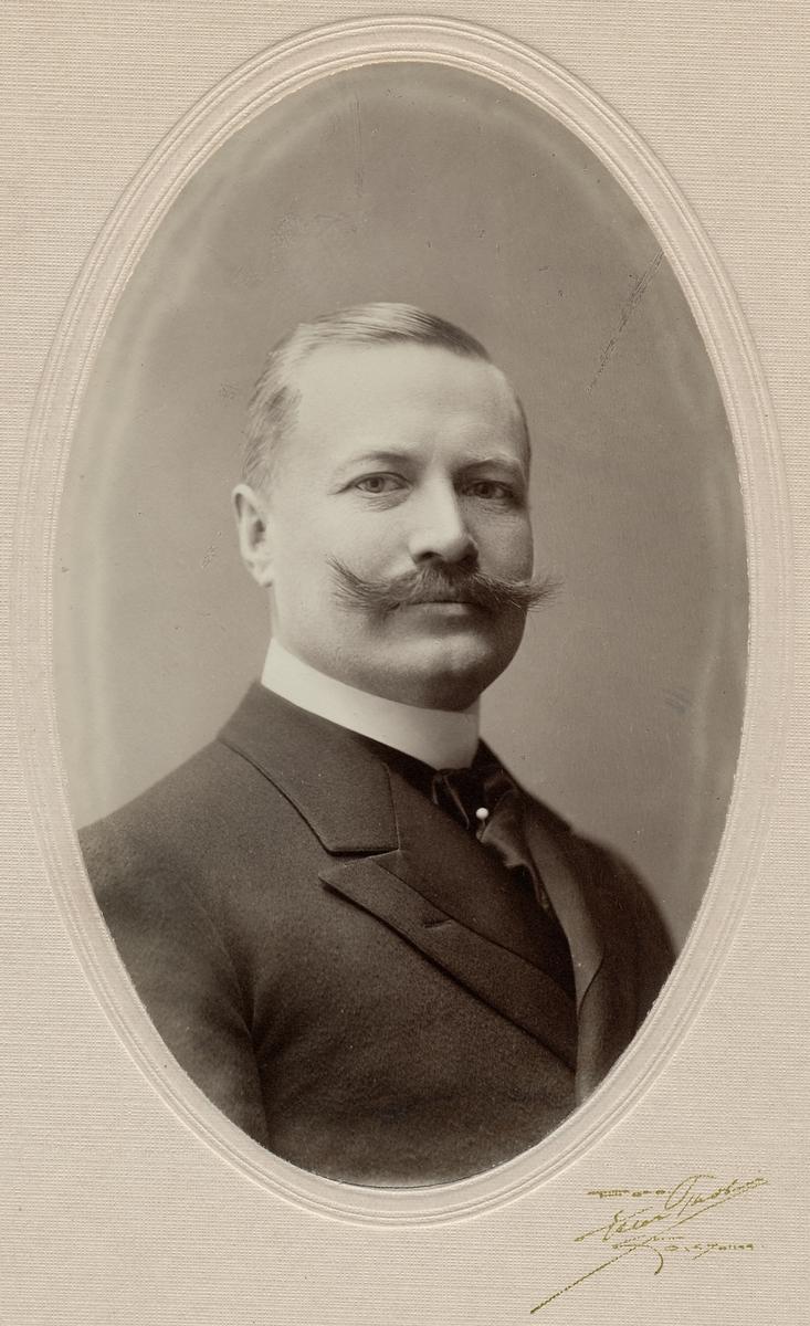 Byrådirektör Osvald Walfrid Wahlqvist. Statens Järnvägar, SJ.
