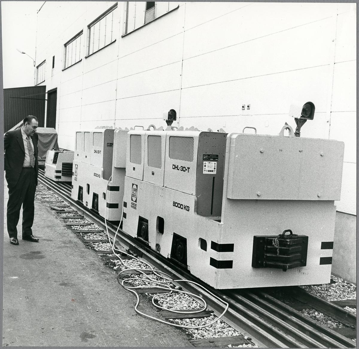 Batterilok vid Gävle vagnverkstad.