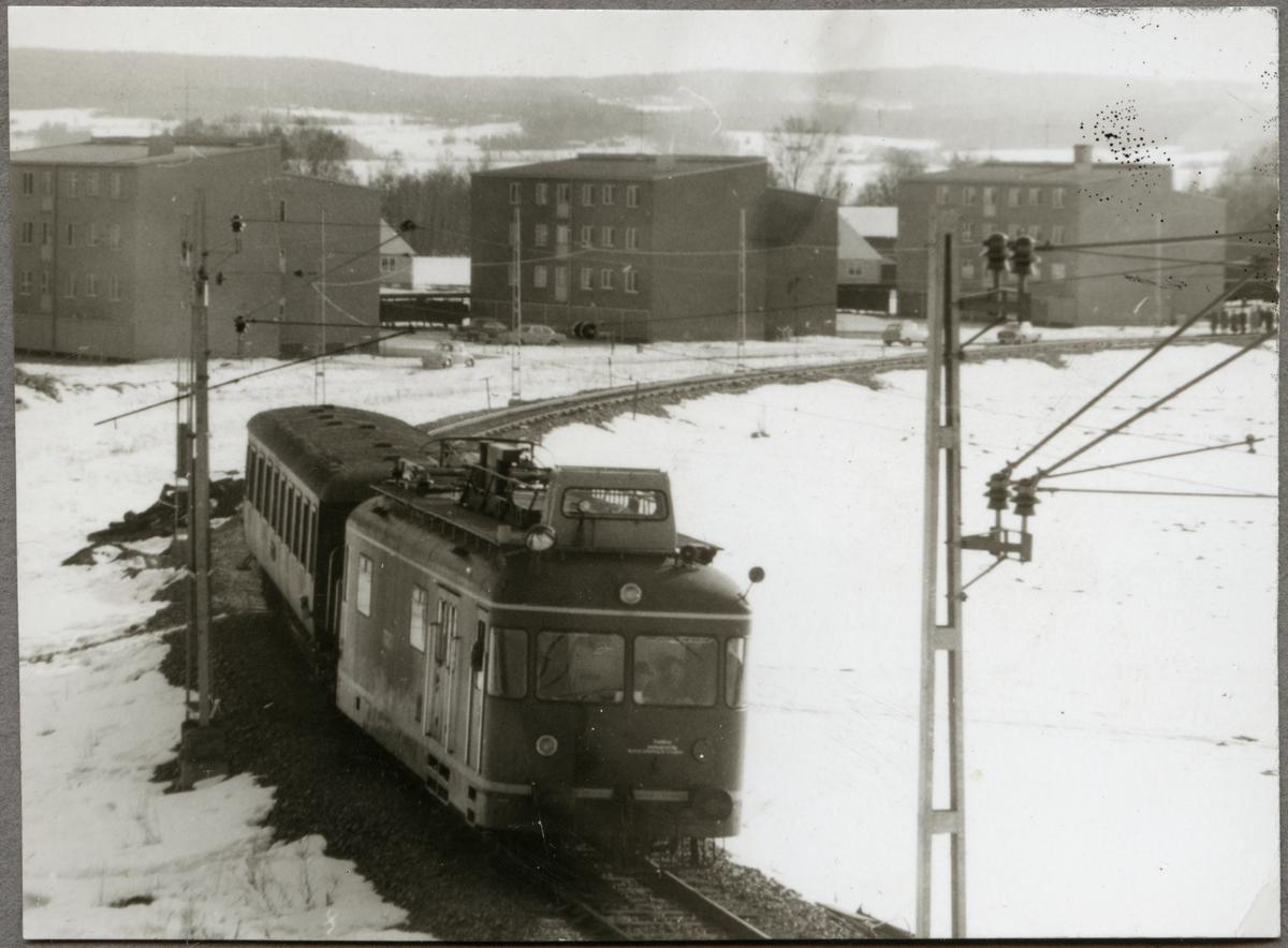 Invigning av elektrifierade sträckan Storå - Guldsmedshyttan med dragfordon 1962.
