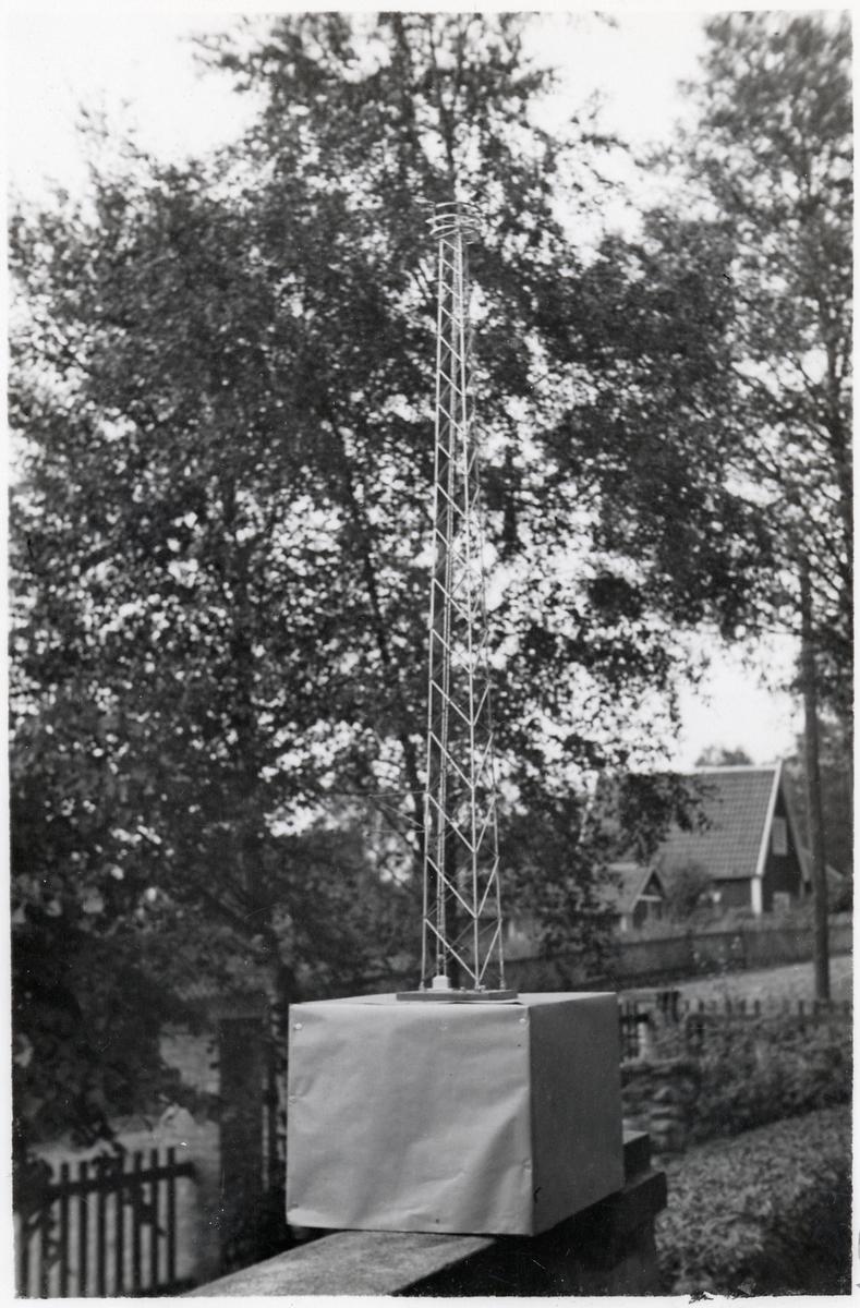 Modell av ett belysningstorn.