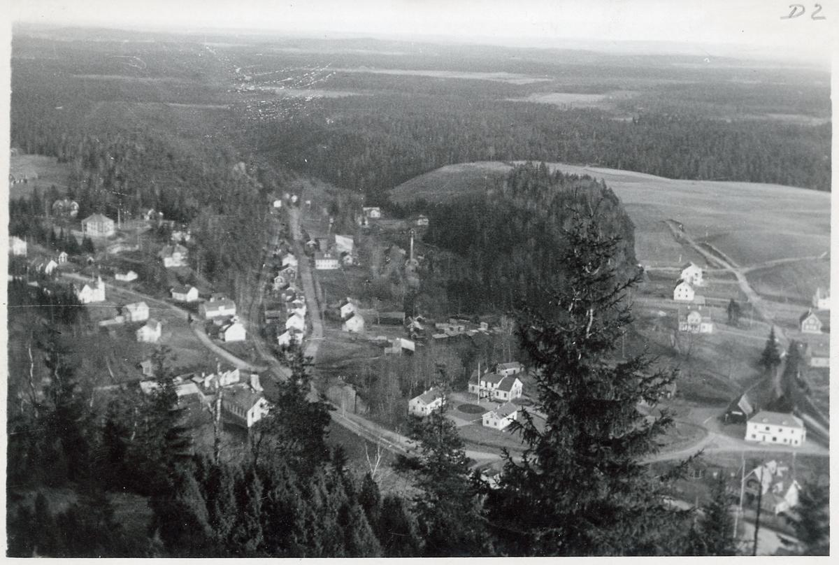 Vy från Taberg, nedanför berget ser vi Smålands Taberg.