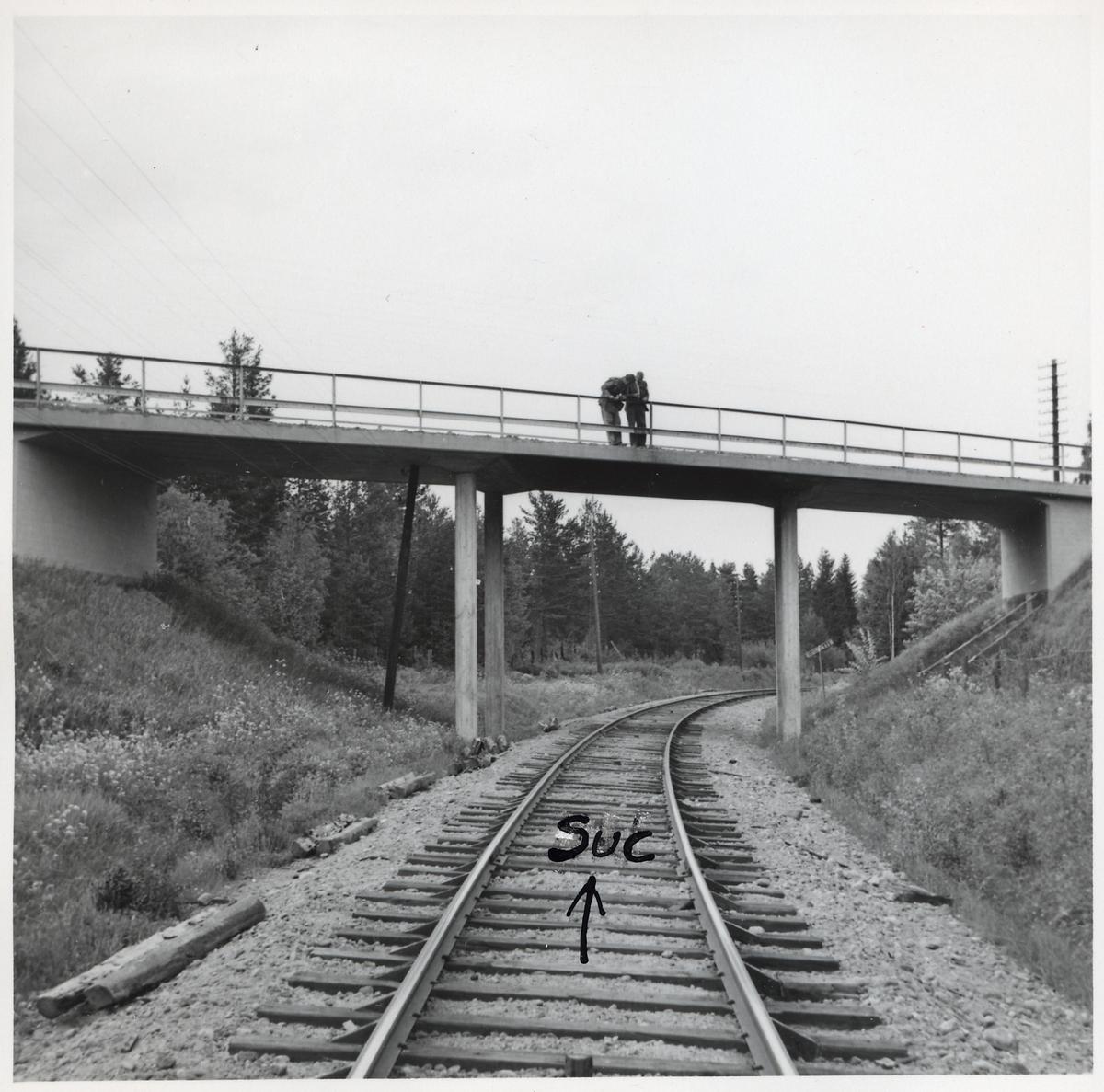 Vägbro på linjen mellan Hudiksvall och Sundsvall C.