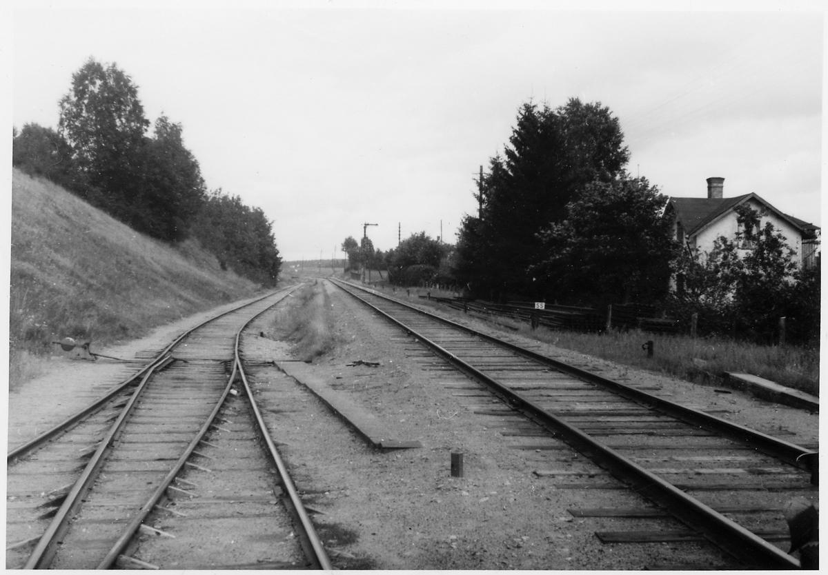 Kinna stationsområde sett mot Borås.