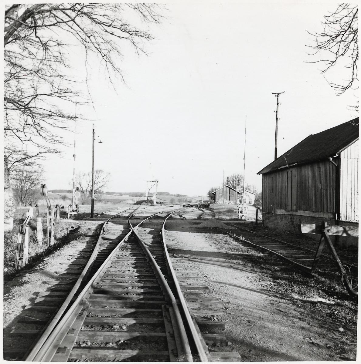 Järnvägsövergång i Charlottenlund.